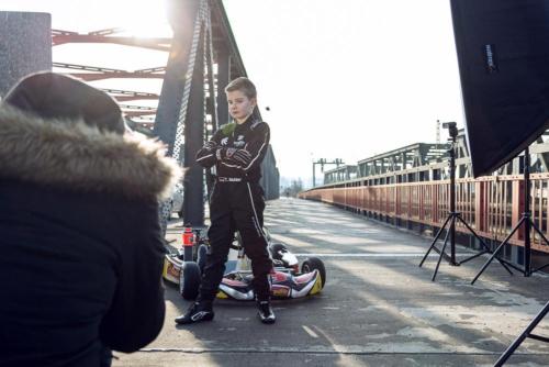 Fotoshooting für Junior-Rennfahrer Tom Muhler in Hanau.