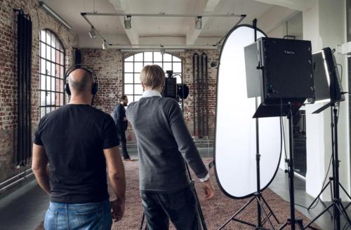 Unser Team bei einem Imagefilm-Dreh in Frankfurt.