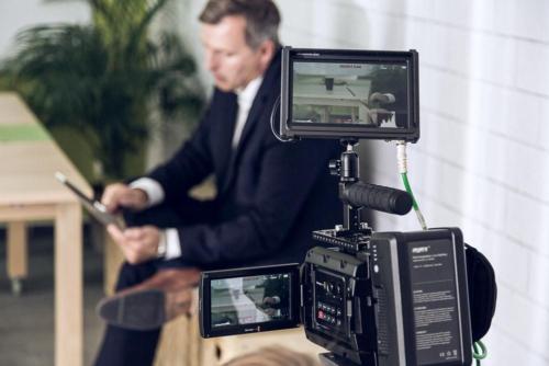 Kamera-Aufbau bei einem Imagefilm-Dreh in Heusenstamm.