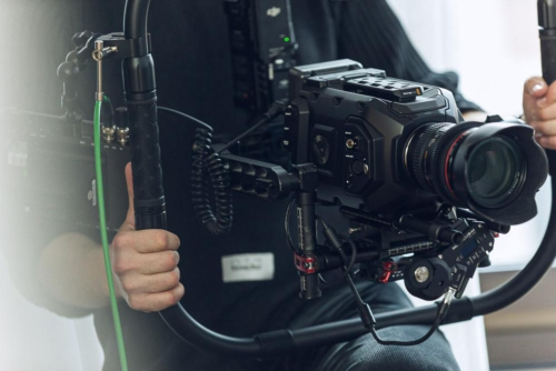 Unser Gimbal zur Bildstabilisierung bei einem Imagefilm-Dreh in Darmstadt.